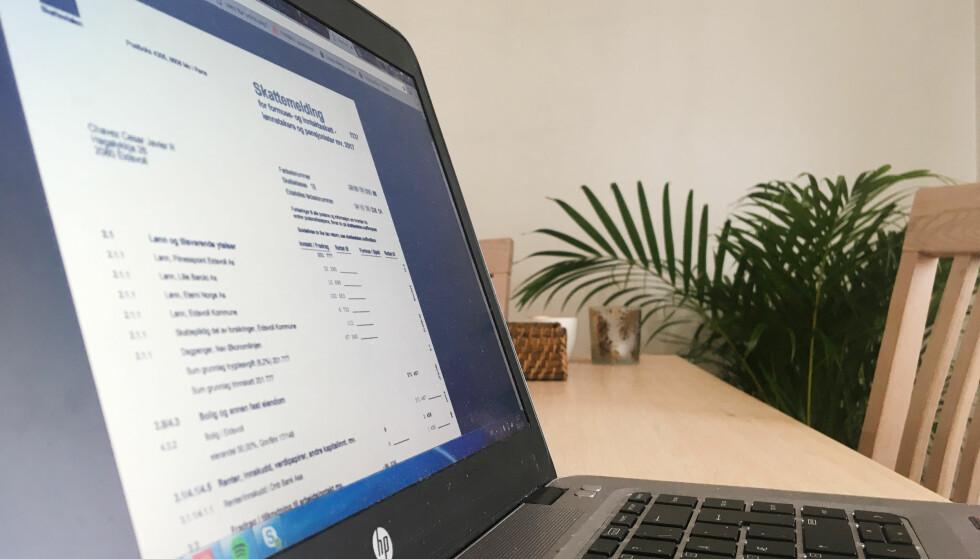 NÅR ER FRISTEN FOR LEVERING? Har du gjort endringer i skattemeldingen, er fristen for levering 30. april. Foto: Berit B. Njarga