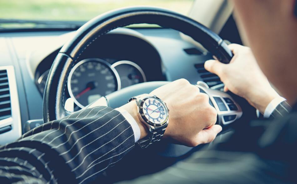 REISETID: Har du lang vei til jobb, eller barn som gir deg en unødvendig omvei, har du rett på skattefradrag. Foto: Shutterstock/NTB Scanpix.