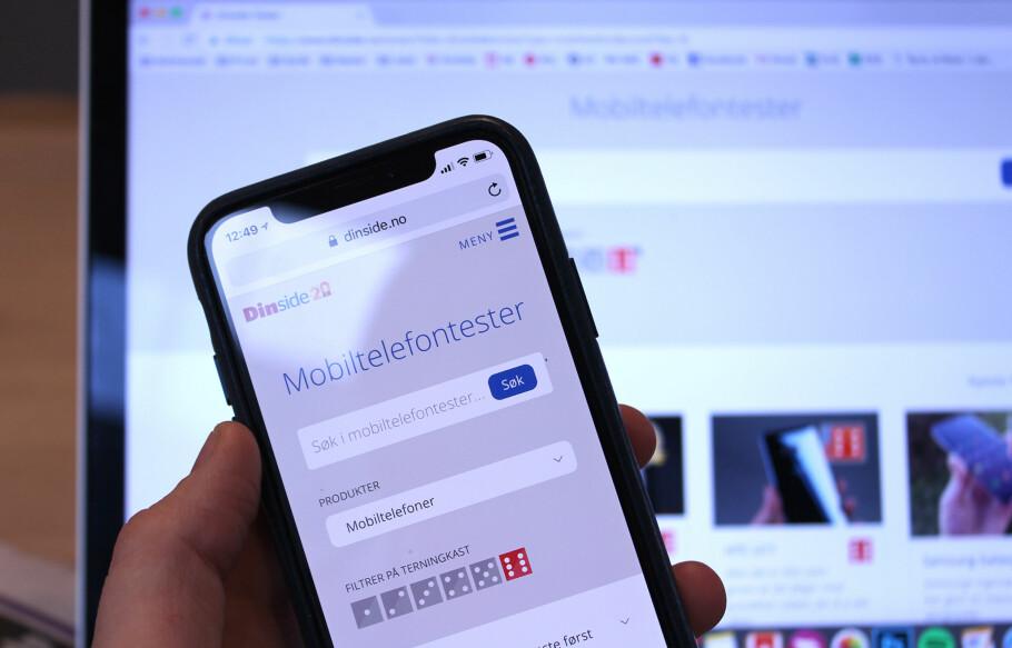 MOBILVENNLIG: Nå blir det endelig enklere å finne mobiltestene våre fra mobilen! Foto: Kirsti Østvang