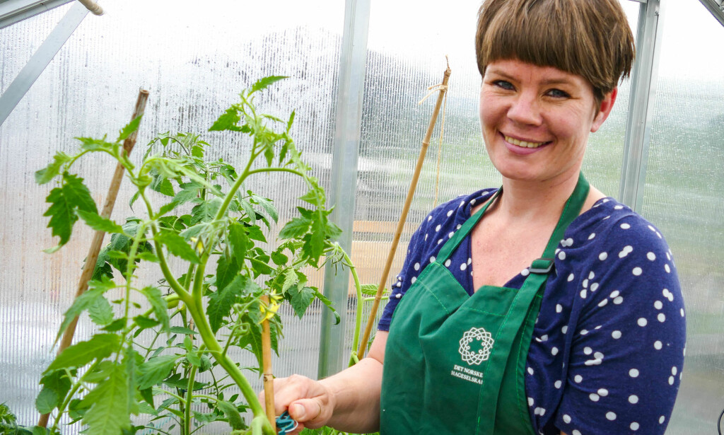 TRIVSEL: Gartner Marianne Utengen har ingenting i mot avansert elektronikk, så lenge de får folk til å oppdage gleden ved hagearbeid. Foto: Jens Fremming Anderssen