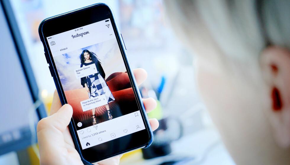 KJØP DET DU SER PÅ BILDET: Norske Instagram-brukere vil nå få muligheten til å kjøpe klær og annet rett i Instagram-appen. Foto: Ole Petter Baugerød Stokke