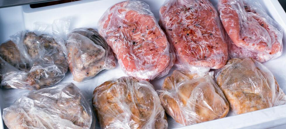 Så lenge holder kjøttet i fryseren