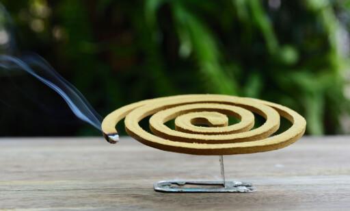 MYGGSPIRAL: Røyken fra spiralen er ikke bra å puste inn, sier Ottesen i FHI. Foto: Shutterstock / NTB Scanpix