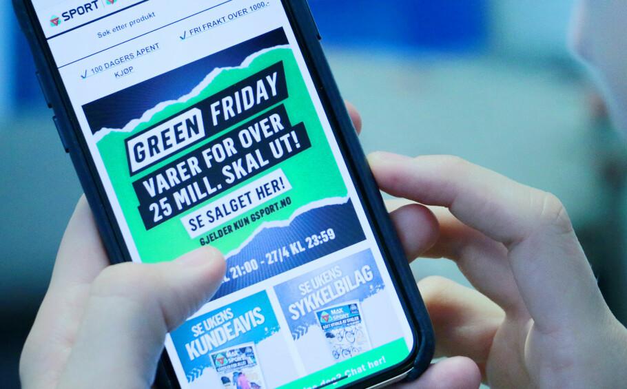 NY SALGSDAG: Først hadde vi Black Friday, nå prøver handelsstanden å gjøre Green Friday til en greie. Foto: Ole Petter Baugerød Stokke