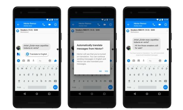 <strong>OVERSETT MELDINGER:</strong> I dag kan man oversette innlegg og kommentarer på Facebook. Snart kommer funksjonen til Messenger-appen. Skjermbilde: Facebook