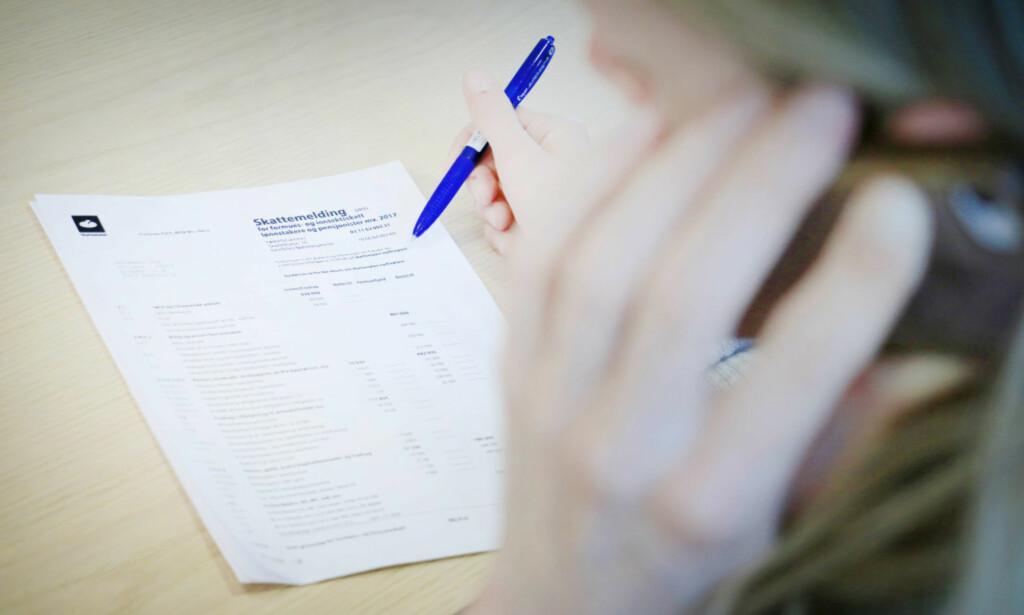 """RIKTIG KONTONUMMER? Nederst på skattemeldingen, under overskriften """"Skattepenger til gode"""", står kontonummeret ditt i anonymisert form, det vil si at du kun ser de siste fem sifrene. Foto: Ole Petter Baugerød Stokke"""