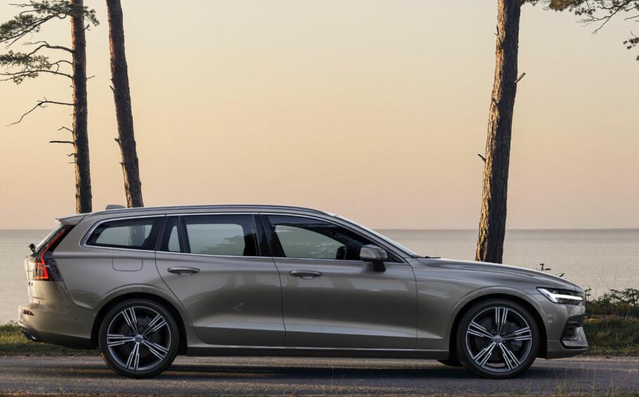 LANG: Nye Volvo V60 er 13 centimeter lengre enn forgjengeren var. Foto: Rune Korsvoll
