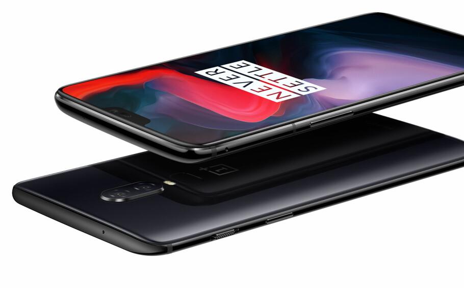 <strong>MYE FOR PENGENE:</strong> Nye OnePlus 6 har spesifikasjoner som en toppmodell, men er prissatt som en mellomklasse-mobil. Foto: Produsenten