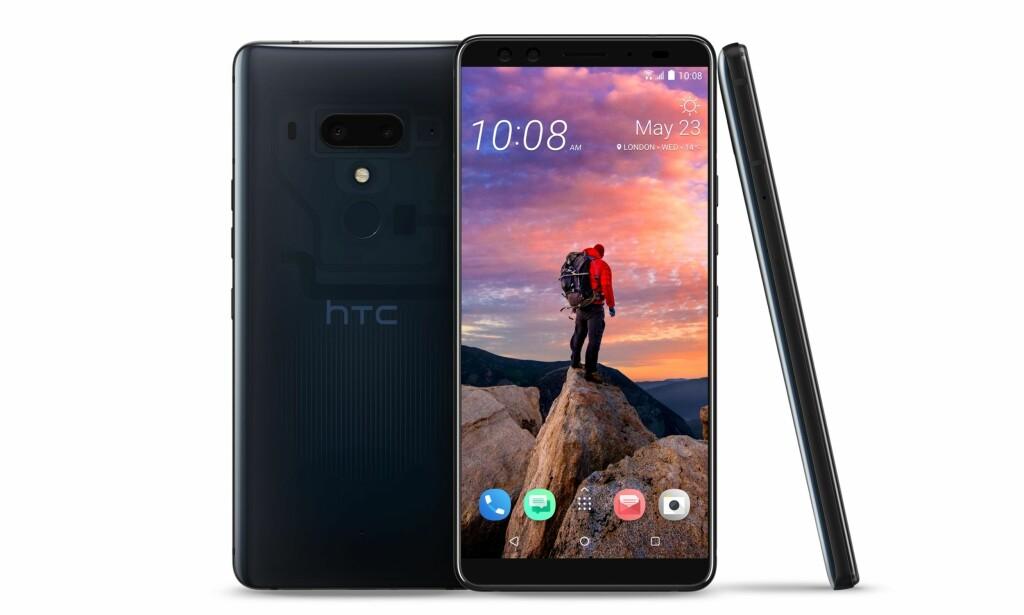 MYE SKJERM, LITE KANT: Men ingen busslomme. HTCs kommende toppmodell følger mer i fotsporene til Samsung Galaxy S9. U12+ har dog ikke hodetelefon-utgang. Foto: HTC