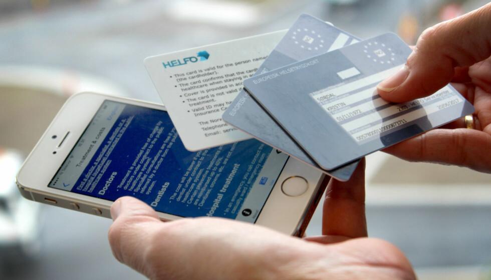 HUSK DETTE PÅ EUROPA-FERIEN: Kun med Europeisk helsetrygdkort er du garantert helsehjelp i EØS-land. Foto: OLE PETTER BAUGERØD STOKKE