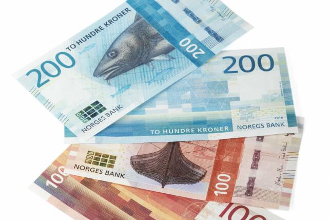 NYE SEDLER: Slik ser de nye 100- og 200-kronesedlene ut. Foto: Norges Bank.