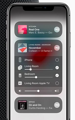 AIRPLAY 2: Spill av musikk på flere høyttalere samtidig. Foto: Apple
