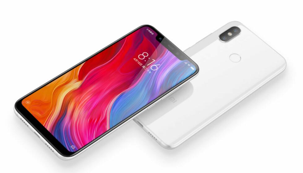 SKJERMLEPPE, DOBLE KAMERAER: Mi 8 følger alle de store mobiltrendene i 2018. Den vanlige utgaven har fingeravtrykksleser på baksiden, mens Explorer Edition har den integrert i skjermen. Foto: Xiaomi