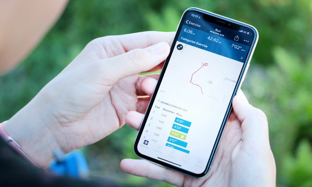 SE HVOR DU HAR LØPT: Du må altså ha med mobilen om du vil registrere løpeturen din på et kart. Foto: Ole Petter Baugerød Stokke