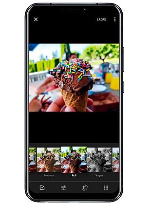 FILTRE: Å legge på et filter i Google Foto er raskt og enkelt. Foto: Ole Petter Baugerød Stokke