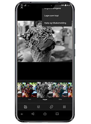 LAGRING: Google Foto lar deg enten overskrive det gamle, eller lage en ny kopi av, bildet. Foto: Ole Petter Baugerød Stokke