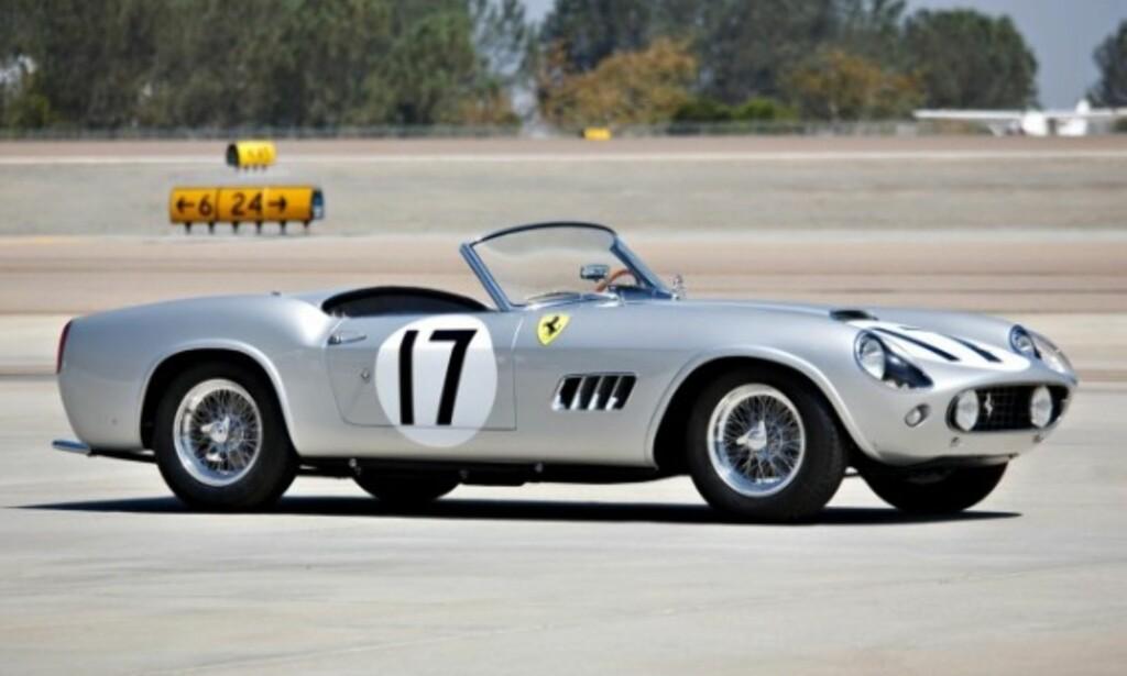 12. PLASS: Ferrari GT LWB California Spider Competizone, fra 1959, ble solgt for 18,15 millioner dollar i 2016. Foto: Gooding and Company