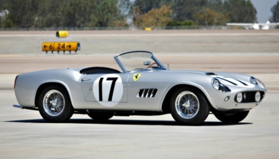 12. PLASS: Ferrari GT LWB California Spider Competizone, fra 1959, ble solgt for 18,15 millioner dollar i 2016. Foto: Gooding and Company