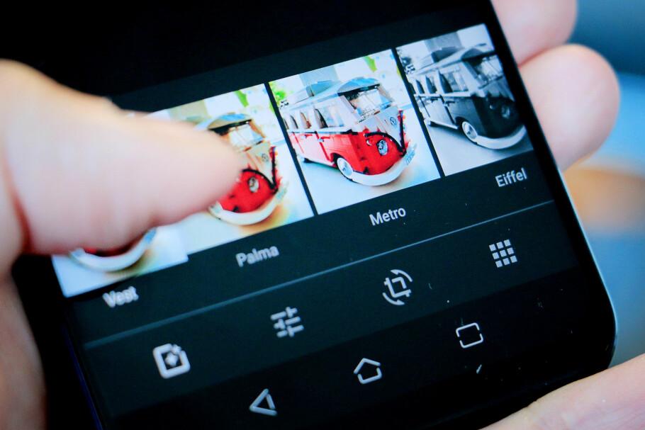 RASKT OG ENKELT: Med Google Foto-appen du trolig har fra før kan du behandle bilder på Android-mobiler. Foto: Ole Petter Baugerød Stokke