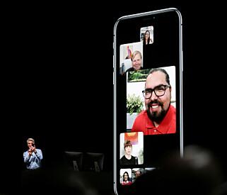 FACETIME MED FLERE: Snart blir det endelig mulig å ha en FaceTime-videosamtale med flere av gangen. Foto: Elijah Nouvelage/Reuters/NTB Scanpix