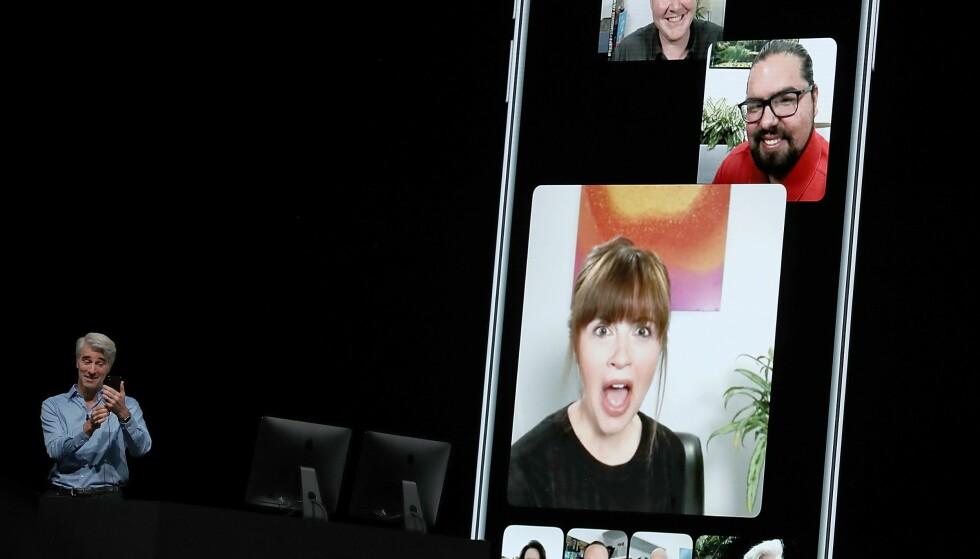 FUNGERER IGJEN: Apple har nå skrudd på gruppesamtaler i FaceTime etter å ha tettet et alvorlig sikkerhetshull. Foto: Justin Sullivan/Getty Images/AFP