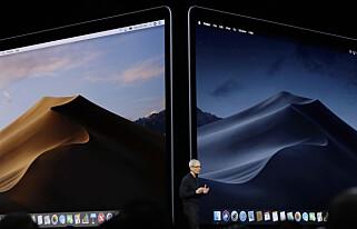 LYST ELLER MØRKT: I neste macOS-versjon kan du velge hvordan skrivebordet og appene skal se ut. Du kan også ha en skrivebordsbakgrunn som endrer lys etter tid på døgnet. Foto: Marcio Jose Sanchez/AP Photo/NTB Scanpix