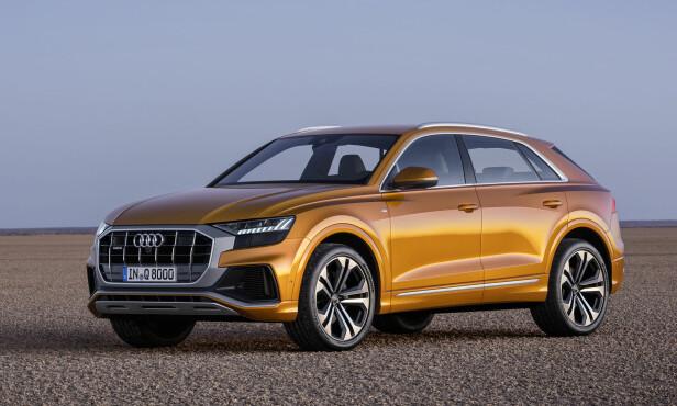 SVÆRE HJUL: Vi ville nesten trodd det fortsatt dreide seg om en konseptbil når vi ser de gedigne hjulbuene og felgene, men - nei: Det er produksjonsbien, ja. Foto: Audi