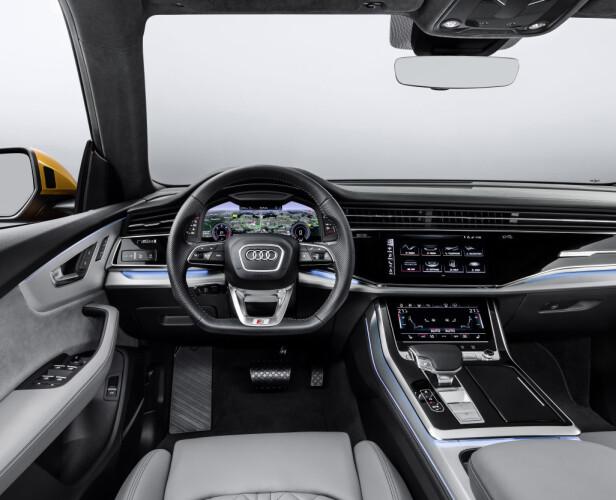 TEKNO-PREMIUM: Audi på sitt mest høyverdige, uten et snev av gammelmodig luksus-stil: Her er teknologi og modernitet satt i høysetet. Foto: Audi