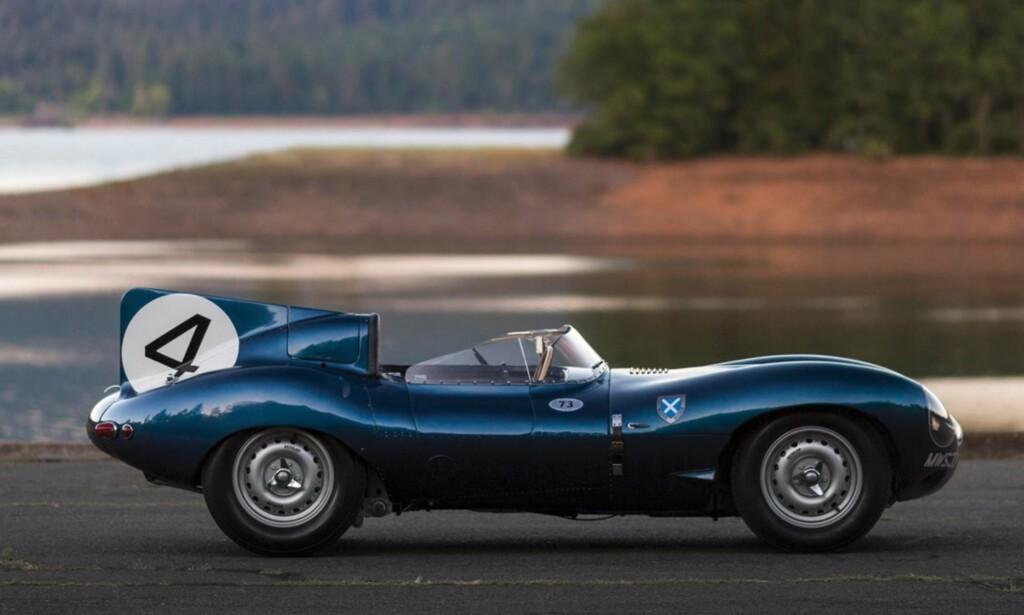 8. PLASS: Jaguar D-Type ble solgt for 21,8 millioner dollar. Foto: RM Sotheby´s