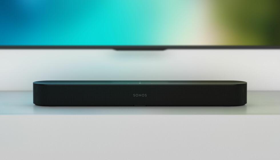 KOMPAKT: Beam er en liten lydplanke som egner seg godt for deg som ikke har så stor stue. Foto: Sonos
