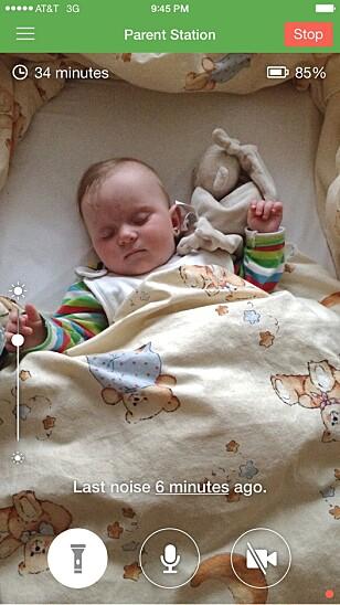 BRUK MOBILEN ELLER NETTBRETTET: Med appen Baby Monitor 3G kan du bruke din egen mobil og nettbrett som babycall. Skjermbilde: Utvikleren