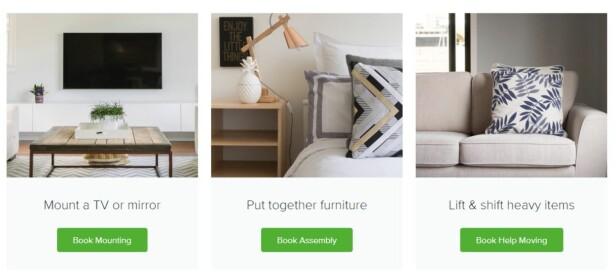 SMARTHJELP: Taskrabbit er et selskap som via nett og teknologi hjelper amerikanere å montere IKEA-møbler. Foto: Taskrabbit