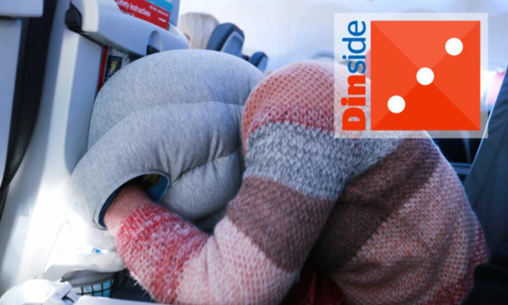 DEN ORIGINALE STRUTSEN: Det er for liten plass til at dette blir behagelig ... Foto: Hanna Sikkeland