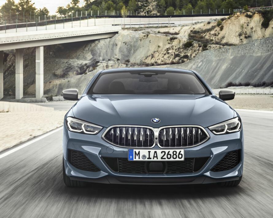 TOPPMODELL: 8-serien til BMW plasserer seg i den mest eksklusive nisjen til merket, som stor og kraftfull sports-GT. Foto: BMW