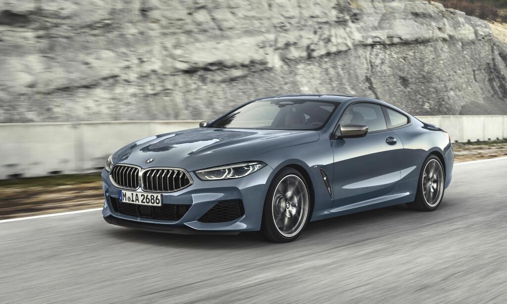 SOM EN GLUPSK HAI: Fronten er kledelig aggressiv og linjeføringen er mer klassisk sports-GT. Foto: BMW