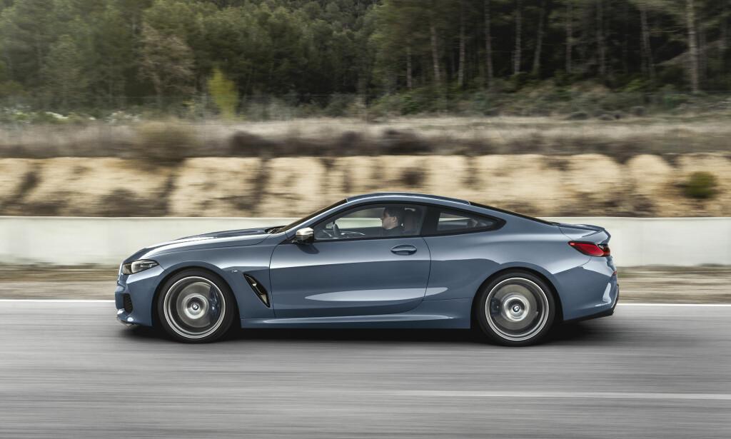 SPORTS-GT: En stor coupe med sportsbil-linjer, det er hva nye 8-serie fremstår som. Foto: BMW