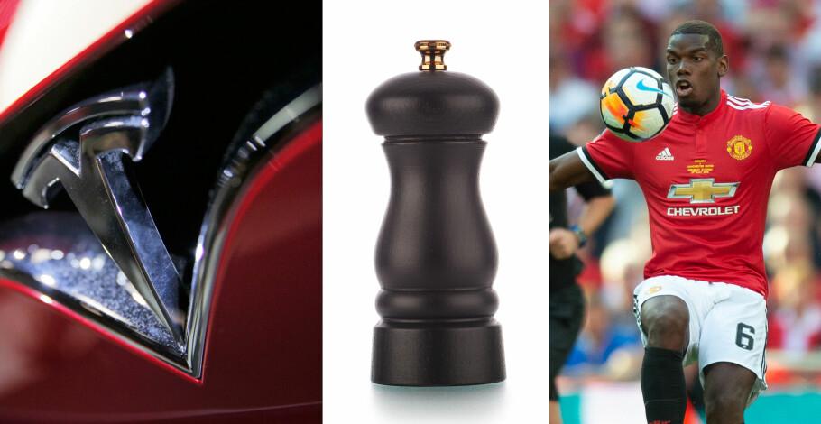 BILMERKER OG LOGOBRUK: Mange av bilmerke-logoene har fascinerende bakgrunner. Det har også Tesla, Peugeot og Chevrolet som vi skriver om i denne artikkelen. Foto: AP/Shutterstock/PA Photos