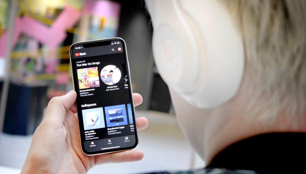 NY MUSIKKAPP: Spotify, Tidal og Apple Music har nå en ny konkurrent, nemlig YouTube Music. Foto: Ole Petter Baugerød Stokke