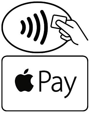 KLARSIGNALET: Ser du ett eller begge av disse merkene, kan butikken ta i mot betaling via Apple Pay.