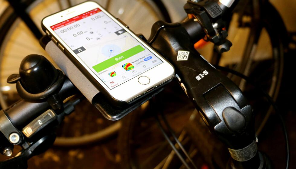GODE SYKKELAPPER: Bruker du en app til å følge med på hastighet, tid og kaloriforbruk, setter du en ekstra spiss på sykkelturen. Foto: Tore Neset
