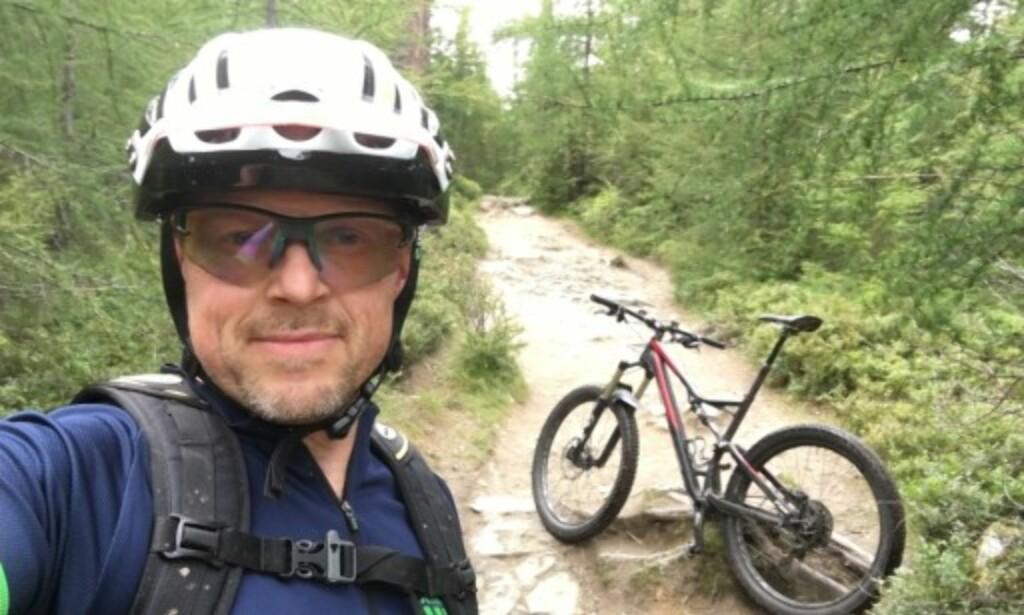 TRENINGSDATA: I likhet med mange andre sykkelentusiaster bruker Morten Karlsen Strava, selve kongen av sykkel-appene. Foto: Privat