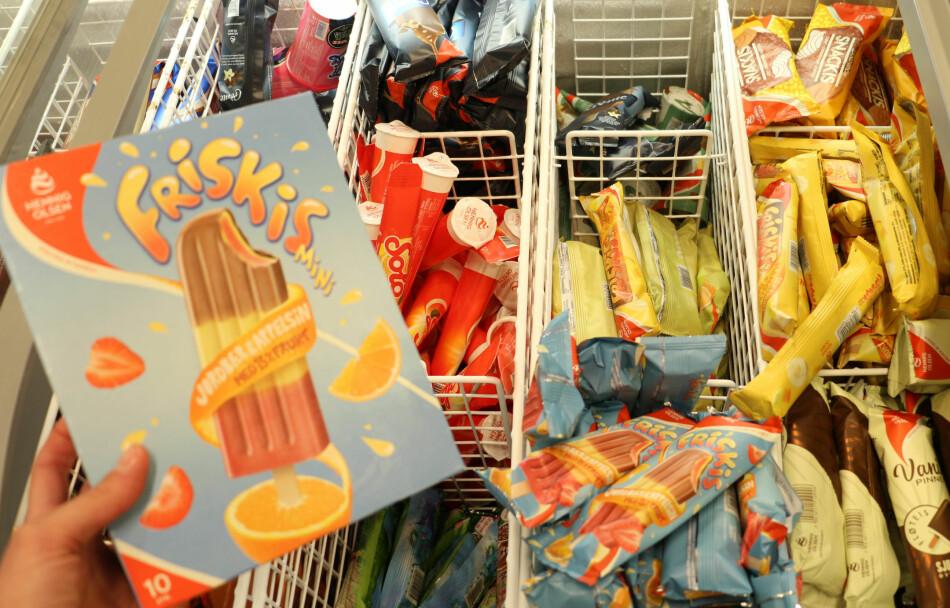 PRIS- OG STØRRELSESFORSKJELL: Skal du kjøpe is i sommer, lønner det seg å kjøpe en pakke med flere, selv om isene i pakken av og til er mindre enn når du kjøper dem enkeltvis. Foto: Eilin Lindvoll.