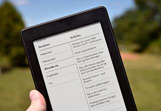 Slik kan du lese norske nettaviser på Kindle