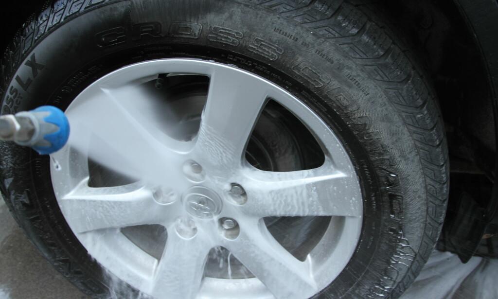 SPYL GODT: Vask av bremsedeler kan forhindre rustdannelse. Foto: Rune Korsvoll