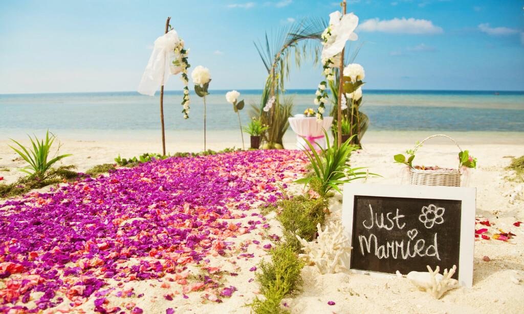 BRYLLUPSPLANER? Ønsker du å gifte deg i utlandet? Da må du huske å søke på forhånd. Foto: NTB Scanpix