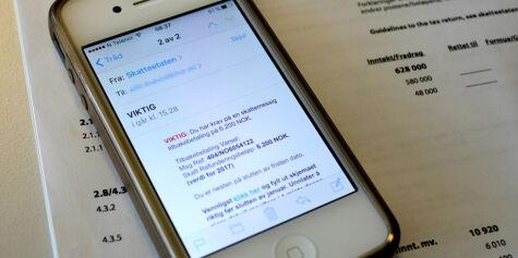 image: Svindlere sender e-post og utgir seg for å være Skatteetaten