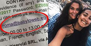 image: Malin kjørte leiebil i Italia: Åtte måneder seinere kom dette brevet
