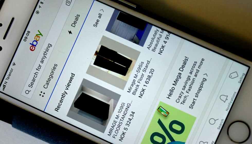 KJØP I DITT NAVN: Kriminelle som har fått tak i brukernavn og passord til din eBay-konto kan endre adressen og få varen sendt til seg selv. Foto: Tore Neset