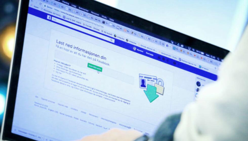 FACEBOOK: Det er ikke allverden en kriminell kan få gjort ved å skaffe seg tilgang til din Facebook-konto. Foto: Ole Petter Baugerød Stokke