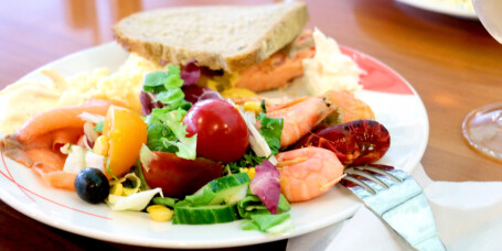 Test av maten på danskebåten SuperSpeed